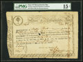 Colonial Notes:Massachusetts, State of Massachusetts Bay £13.3s 6% Jan. 1, 1782 Anderson MA-12 PMG Choice Fine 15 Net.. ...