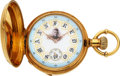 Timepieces:Pocket (pre 1900) , Albert H. Potter & Co. Geneva Special Order Gold Watch With O'Hara Dial. ...