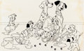 Animation Art:Production Drawing, 101 Dalmatians Consumer Products Illustration (Walt Disney,c. 1970s)....