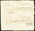 Colonial Notes:Connecticut, Connecticut Committee Pay Table Request and Response Certificate April 14, 1783 Very Fine.. ...