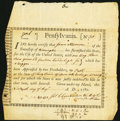 Colonial Notes:Pennsylvania, Pennsylvania Interest Bearing Certificate £30.10s Specie Aug. 19, 1780 Anderson PA-2 Fine.. ...