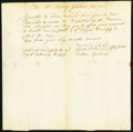 Colonial Notes:Massachusetts, (Massachusetts) Assessor Declaration Letter No Amount Feb. 25, 1777 Anderson MA-UNL Very Fine.. ...