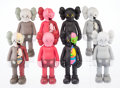 Fine Art - Sculpture, American:Contemporary (1950 to present), KAWS (b. 1974). Companion (Open Edition) (eight works),2016. Painted cast vinyl. 11 x 4-1/2 x 3-1/2 inches (27.9 x 11.4...(Total: 8 Items)
