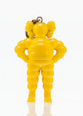 Collectible, KAWS (b. 1974). Chum (Yellow), keychain, 2009. Painted cast vinyl. 2 x 1-1/2 x 1 inches (5.1 x 3.8 x 2.5 cm). Stamped to...