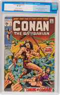 Bronze Age (1970-1979):Adventure, Conan the Barbarian #1 (Marvel, 1970) CGC VF 8.0 Off-white to white pages....
