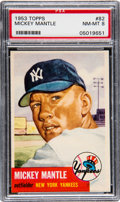 Baseball Cards:Singles (1950-1959), 1953 Topps Mickey Mantle (SP) #82 PSA NM-MT 8....