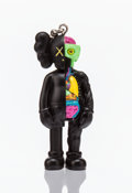 Fine Art - Sculpture, American:Contemporary (1950 to present), KAWS (b. 1974). Dissected Companion (Black), keychain, 2009.Painted cast vinyl. 2 x 1-1/2 x 1 inches (5.1 x 3.8 x 2.5 c...