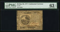 Colonial Notes:Continental Congress Issues, Continental Currency May 20, 1777 $6 PMG Choice Uncirculated 63 EPQ.. ...