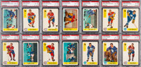 1958 Parkhurst Hockey PSA Graded Complete Set (50) - Almost Every Card is NM-MT!
