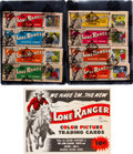 """Non-Sport Cards:Sets, 1950's Ed-U-Cards """"Lone Ranger"""" Complete Set (40 Panels) - In Original Display Boxes Plus Ad! ..."""