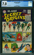 Silver Age (1956-1969):Superhero, 80 Page Giant 8 Secret Origins (DC, 1965) CGC FN/VF 7.0 OFF-WHITETO WHITE pages.