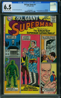 80 Page Giant 11 Lex Luthor (DC, 1965) CGC FN+ 6.5 OFF-WHITE TO WHITE pages