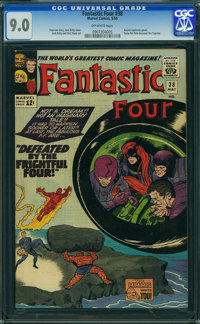 Fantastic Four #38 (Marvel, 1965) CGC VF/NM 9.0 OFF-WHITE pages