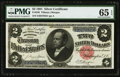 Large Size:Silver Certificates, Fr. 246 $2 1891 Silver Certificate PMG Gem Uncirculated 65 EPQ.....