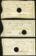 Colonial Notes:Connecticut, Connecticut Comptroller's-Office 1789-91 5s.4d; £1.16.0 AndersonCT-49;. Connecticut Comptroller's-Office Dec. 23, 1790 £1...(Total: 3 notes)