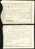 Colonial Notes:Connecticut, Connecticut 1789-96 Two Different.. ... (Total: 2 notes)