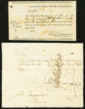 Colonial Notes:Connecticut, Connecticut Two Examples circa 1780.. ... (Total: 2 notes)