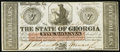 Obsoletes By State:Georgia, Savannah, GA- State of Georgia $5 Jan. 15, 1862. ...