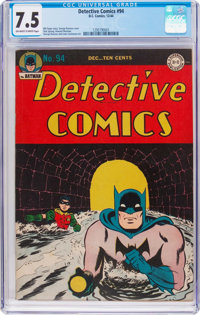Detective Comics #94 (DC, 1944) CGC VF- 7.5 Off-white to white pages