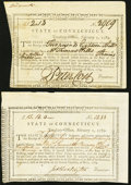 Colonial Notes:Connecticut, Connecticut Treasury Office Transfer Certificates Feb. 1, 1789Anderson CT-27 Two Examples.. ... (Total: 2 notes)