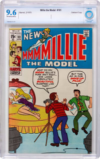 Millie the Model #181 Oakland Pedigree (Marvel, 1970) CBCS NM+ 9.6 Off-white to white pages
