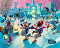 Memorabilia:Disney, Carl Barks Mardi Gras Before the Thaw Signed Limited Edition Lithograph Print #180/350 (Another Rainbow, 1992)....
