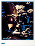 Memorabilia:Science Fiction, Tim and Greg Hildebrandt-Signed Star Wars; Shadows of the Empire Trading Cards Darth Vader Poster (Lucasfilm Ltd.,...