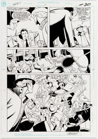 Mike Parobeck and Paul Fricke The Fly #6 Page 16 Original Art (DC, 1992)