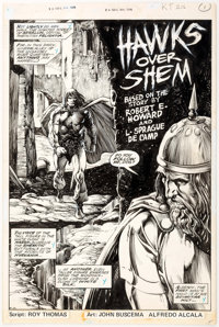 John Buscema and Alfredo Alcala Savage Sword of Conan #36 Splash Page 1 Original Art (Marvel, 1978)