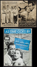 "Movie Posters:Academy Award Winners, Casablanca (Warner Brothers, 1948). First Post-War Release Austrian Program (4 Pages, 5.75"" X 8.25"") & Sheet Music (8 Pages,... (Total: 2 Items)"