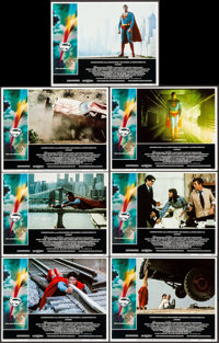 """Superman the Movie (Warner Brothers, 1978). Lobby Cards (7) (11"""" X 14""""). Action. ... (Total: 7 Items)"""