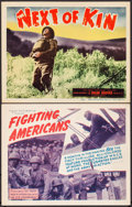 "Movie Posters:War, Fighting Americans & Other Lot (Toddy Pictures, 1944). TitleLobby Cards (2) (11"" X 14""). War.. ... (Total: 2 Items)"