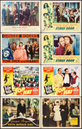 "Movie Posters:Comedy, Fifth Avenue Girl & Others Lot (RKO, 1939). Lobby Cards (8) (11"" X 14""). Comedy.. ... (Total: 8 Items)"