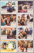 "Movie Posters:War, The Guns of Navarone (Columbia, R-1966). Lobby Card Set of 8 (11"" X14"") Howard Terpning Title Card Artwork. War.. ... (Total: 8 Items)"
