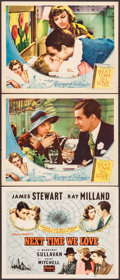 """Movie Posters:Romance, Next Time We Love (Universal & Realart, 1936 & R-1948). Lobby Cards (2) & Title Lobby Card (11"""" X 14""""). Romance.. ... (Total: 3 Items)"""