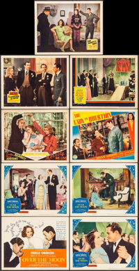 """Over the Moon & Others Lot (United Artists, 1939). Title Lobby Card & Lobby Cards (8) (11"""" X 14""""). Com..."""