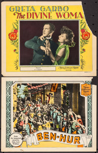 """Ben-Hur & Other Lot (MGM, 1925). Lobby Cards (2) (11"""" X 14""""). Historical Drama. ... (Total: 2 Items)"""