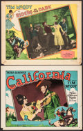 "Movie Posters:Western, California & Other Lot (MGM, 1927). Fine/Very Fine. Lobby Cards(2) (11"" X 14""). Western.. ... (Total: 2 Items)"