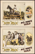 "Movie Posters:Western, No Man's Gold (Fox, 1926) Very Fine-. Lobby Cards (2) (11"" X 14""). Western.. ..."