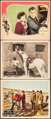 """The War Horse & Other Lot (Fox, 1927). Fine/Very Fine. Lobby Cards (3) (11"""" X 14""""). Western. ... (Total: 3..."""