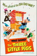 "Movie Posters:Animation, The Three Little Pigs (Buena Vista, R-1968). One Sheet (27"" X 41"").Animation.. ..."