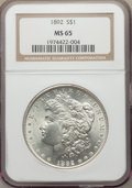 Morgan Dollars, 1892 $1 MS65 NGC....