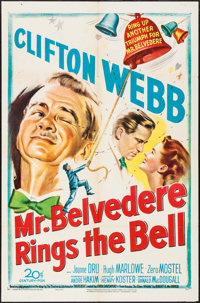 "Mr. Belvedere Rings the Bell & Other Lot (20th Century Fox, 1951). One Sheets (2) (27"" X 41""). Comedy..."