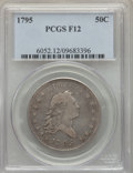 Early Half Dollars, 1795 50C 2 Leaves, O-102, T-26, R.4, Fine 12 PCGS....