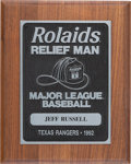 Baseball Collectibles:Others, 1992 Rolaids Relief Man Award Presented to Jeff Russell from The Jeff Russell Collection. ...