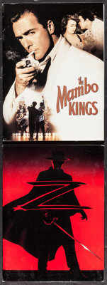 """Mambo Kings & Other Lot (Warner Brothers, 1992). Presskits (2) with Photos (20) (9"""" X 12""""). Musical. ... (..."""