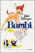 "Movie Posters:Animation, Bambi & Others Lot (Buena Vista, R-1982). One Sheets (3) & TV One Sheet (27"" X 41""). Animation.. ... (Total: 4 Items)"