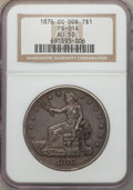 Trade Dollars, 1876-CC T$1 Doubled Die Reverse, FS-801, AU50 NGC....