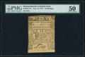 Colonial Notes:Massachusetts, Massachusetts June 18, 1776 48s PMG About Uncirculated 50.. ...