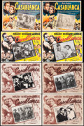 """Movie Posters:Academy Award Winners, Casablanca (Warner Brothers & Peliculas Agrasanchez, R-1950s/R-1960s/R-1970s). Mexican Lobby Cards (8) (12.25"""" X 16"""" - 12.75... (Total: 8 Items)"""